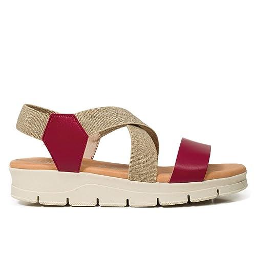 6df50d8b Zapatos Piel Mujer Hechos EN ESPAÑA. Sandalia Plana Mujer. Sandalia Plana  Extraligera. Sandalias Cómodas Mujer con Plantilla Confort Gel: Amazon.es:  Zapatos ...