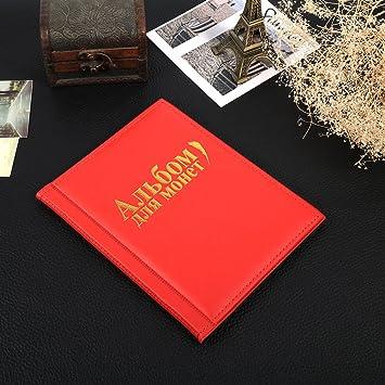 Yosoo archivador para monedas Álbum Moneda bolsillos monedero, 250 Moneta Colección Storage álbum libro: Amazon.es: Hogar