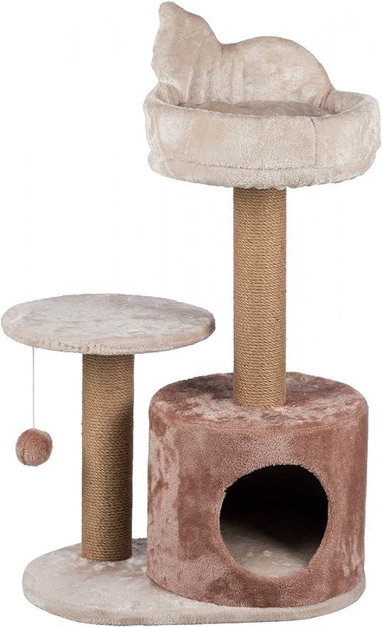TRIXIE Poste Rascador para Gatos Gianni 80 cm Marrón 2 Plataformas y Cama 44045: Amazon.es: Productos para mascotas