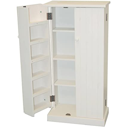 a1d159291886 Versatile Pantry, White Finish, Provides Storage Options in Your Kitchen  and Home, Features