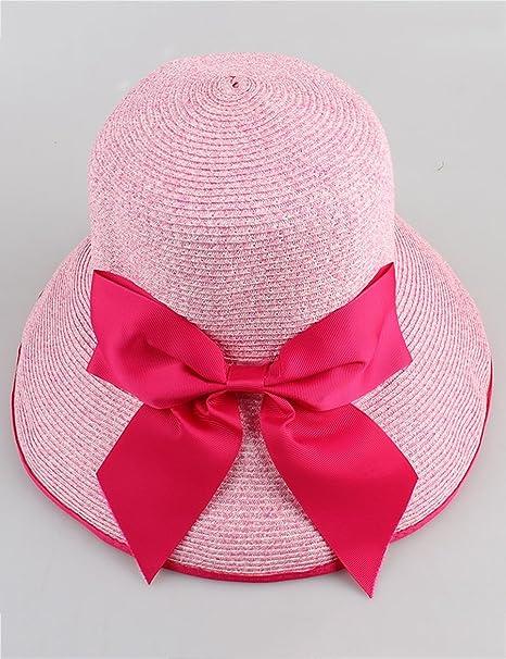 Cappello da sole Estate Femminile Cappello di Paglia Grandi gronda Anti-UV  Spiaggia Cappello Pieghevole 7935f02ae1c4