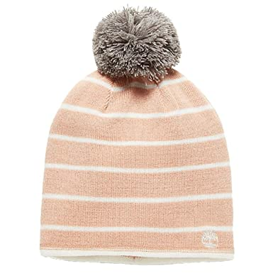 0c91569a85f035 Timberland Timberland Women`s Reversible Removable Pom Pom Beanie  (Pink(1EKLC-100)/White, One Size): Amazon.in: Clothing & Accessories