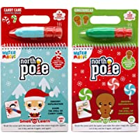Scent Masters Water Magic - Reusable Water Reveal Activity Pads - North Pole Candy Cane & Gingerbread Scented