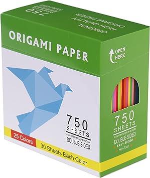 Amazon.com: DOURA Origami - Paquete de 750 hojas de papel ...