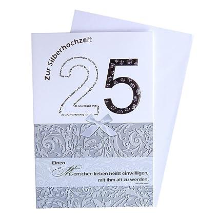 Tarjeta de felicitación bodas de plata: Amazon.es: Oficina y ...