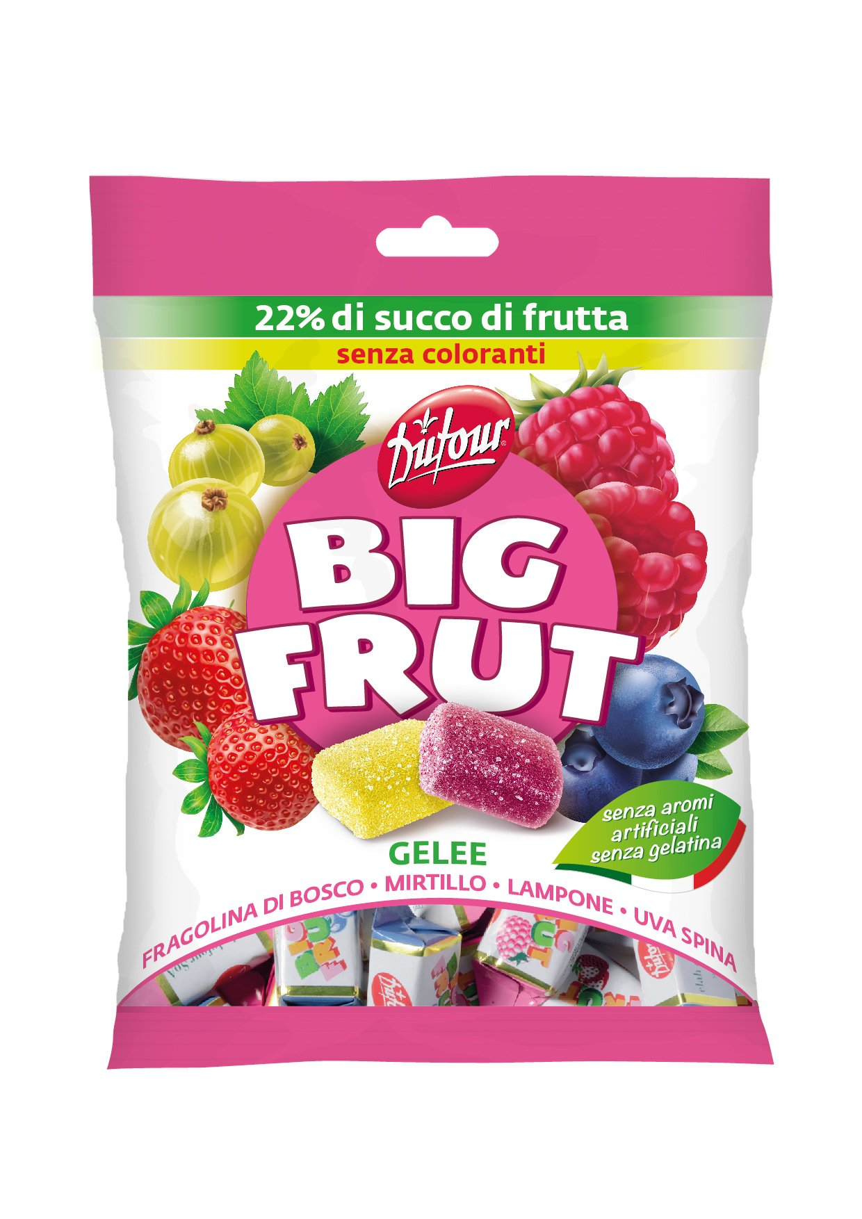 Dufour Big Frut Wild Berry Jellies (6 x 6.35oz Bag) by Sweet Imports