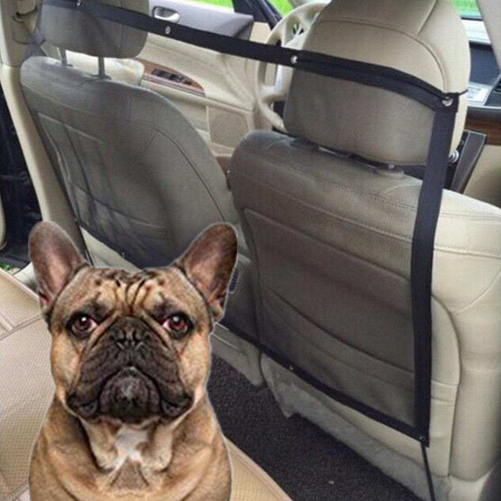 Car Pet Barrier Mesh,YESTORY Dog Car Safety Travel Isolation Net Vehicle Van Back Seat Dog Barrier