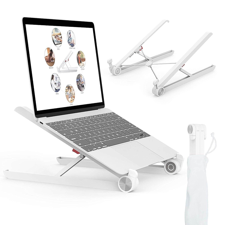 Laptop Stand, Portable Laptop Stand, Foldable Desktop Notebook Holder Mount, Adjustable Eye-Level Ergonomic Design, Portable Laptop Riser for Notebook Computer PC (i) Pad Tablet EURPMASK