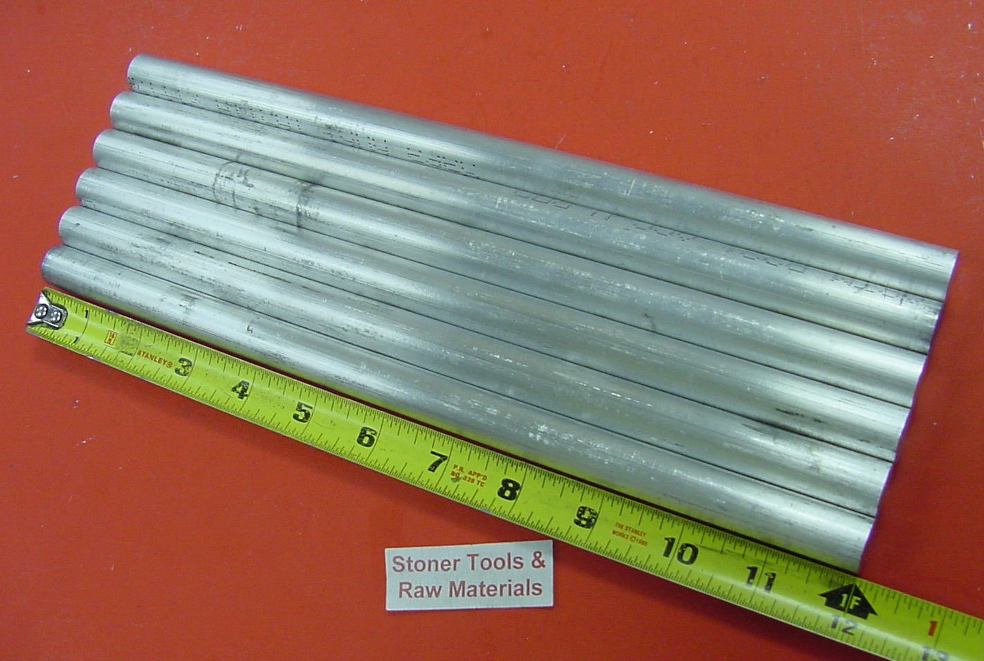 "10 pieces 5//8/"" ALUMINUM 6061 ROUND ROD 18/"" LONG T6511 .625 Solid Lathe Bar Stock"