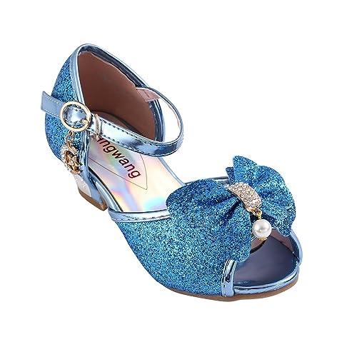 890006258f Amazon.com   Wangwang Kids Girls Sequin Sandals Princess Crystal ...