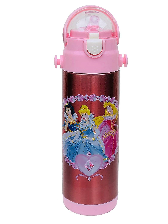 Personnage enfants Bouteille d'eau Disney Princess Bouteille de 500ml pour l'école, gourde Bouteille pour sports, camping, cyclisme, rester Hydratée, personnage enfants préféré Tong Lok