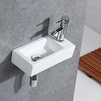 gimify lavabo mural mini evier de salle de bain ou vestiaire right hand 370