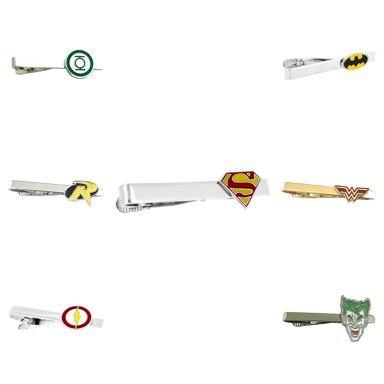 DC Comics - Surtido - Juego de 7 broches de corbata para boda con ...
