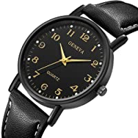 LuckUK❤ Clearance Men Watches,Boy Watches,sport watches,Digital watches,Men's Stainless Steel Case Leather Watch strap Analog Quartz Watch Sport Watch Wrist Watch