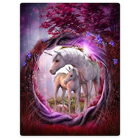 Cool Blanket Sofa Bed Throw Lightweight Cozy Plush Branches White Unicorn Purple Ground 50X60 Ocoug Best Dining Table And Chair Ideas Images Ocougorg
