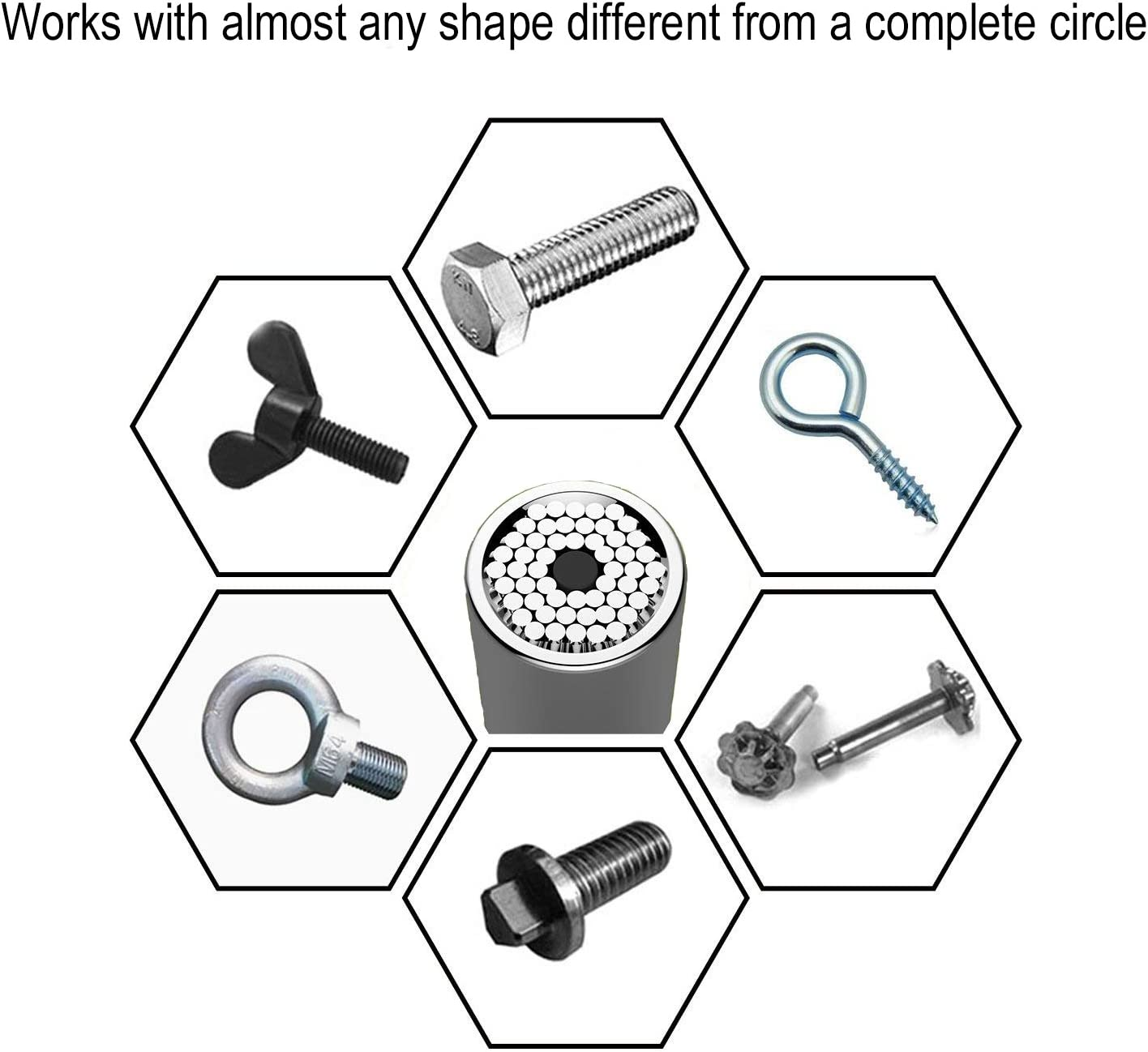 3Pcs Xiangyu Universal Socket Multi Function Socket Ratcheting Wrench Metric Tools 1//4 inch-3//4 inch 7mm-19mm 3//8 Drive Quick Release Ratchet Wrench with Power Drill Adapter