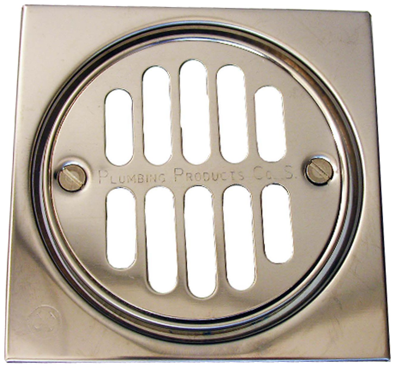 LASCO 03 1245 Shower Drain Trim Kit With 3 3/8 Inch Grid Strainer And 2 1/2  Inch Screw Holes, 4 Inch, Chrome Plated     Amazon.com