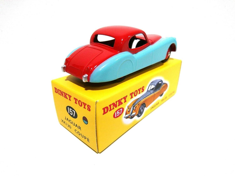 De Agostini Jaguar XK 120 Bicolour Red and Blue Dinky Toys DEAGOSTINI 157