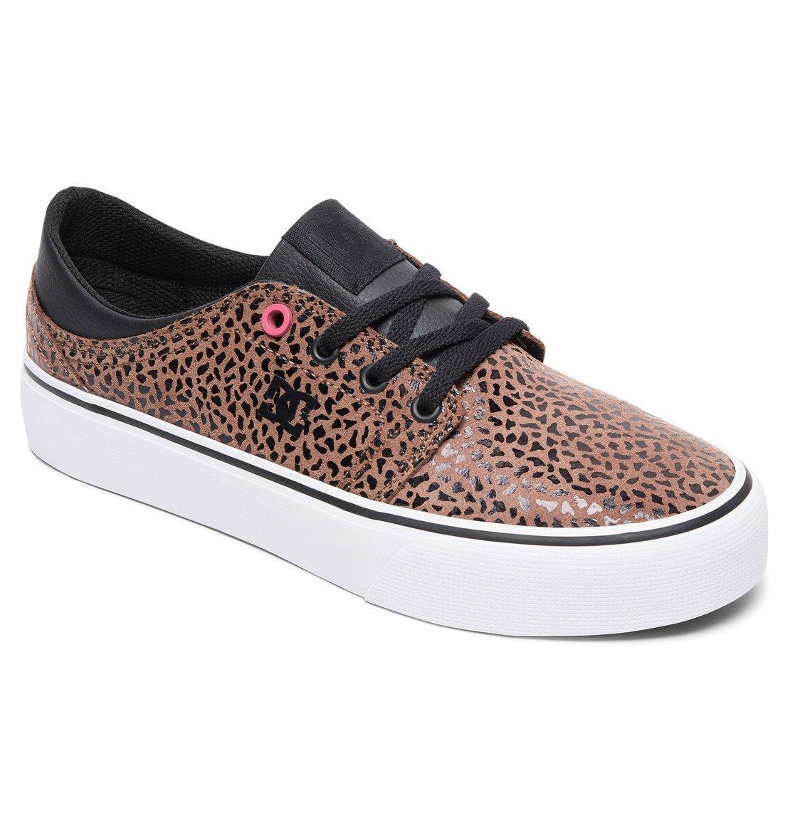 DC Women's Trase SE Skateboarding Shoe B077V97853 8 B(M) US|Cheetah Print