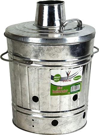 Mini Incinerador Galvanizado 15L para residuos de madera de jardín: Amazon.es: Bricolaje y herramientas