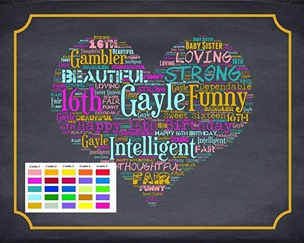 16th Birthday Gifts Gift Ideas Sweet Sixteen Chalkboard Decoration
