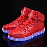 FLARUT Kids High Top LED Shoes Light Up USB