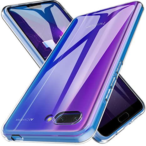 LK Funda para Huawei Honor 10, Carcasa Cubierta TPU Silicona Goma Suave Case Cover Play Fino Anti-Arañazos - Clara