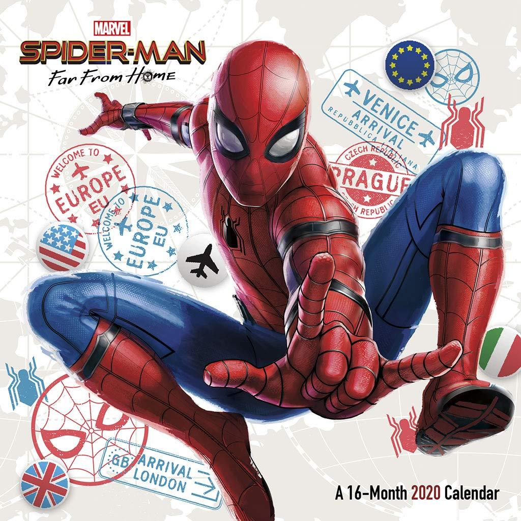 Calendar Home 2020 Spider man   Far from Home 2020 Calendar: 0057668205896: Amazon