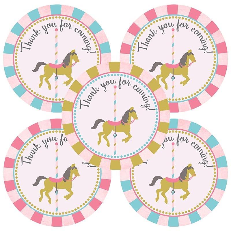 Adorebynat Party Decorations EU Carrousel autocollant Merci pour /étiquettes Party Favors Birthday Baby Shower Set 30