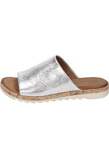 Piazza Damen-Pantolette Silber 900560-92, Grösse 36