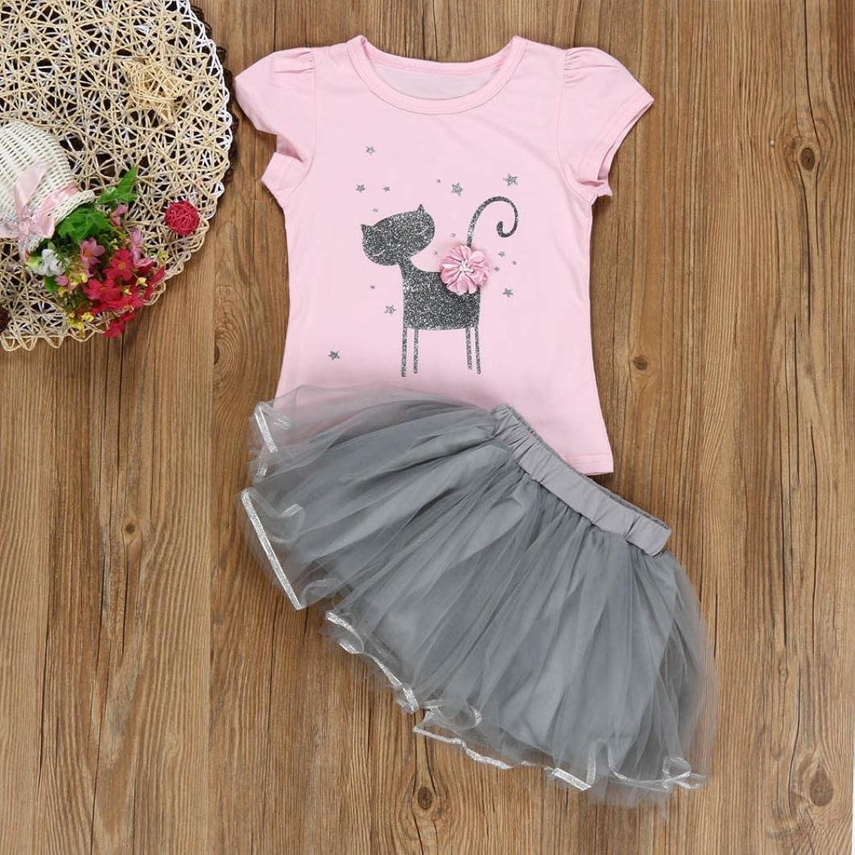 feiXIANG sommer - kinder kleider Mädchen Blume T-Shirt + Garn Rock ...