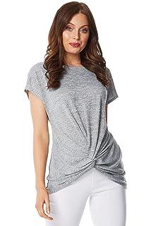Zip Front Zig Zag Short Sleeve Top Ladies Casual Women Roman Originals