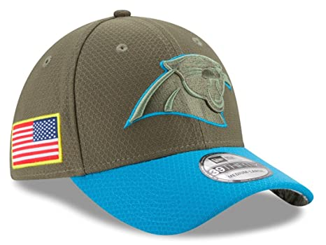 new arrival 1e07d baf5f Carolina Panthers New Era NFL 39THIRTY 2017 Sideline  quot Salute to  Service quot  Hat S