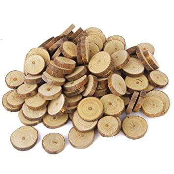 Nuolux wood log slices discs for diy crafts wedding centerpieces 15 nuolux wood log slices discs for diy crafts wedding centerpieces 15 3cm 100pcs junglespirit Choice Image