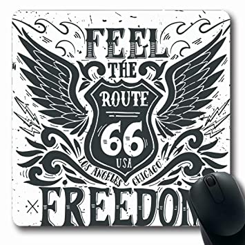 Luancrop Alfombrillas Etiqueta ala Sentido Libertad Ruta 66 ...