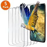 "iPhone X Screen Protector, BlingFilm ( 5 Packs ) iPhone X [ Tempered Glass ] Screen Protector for Apple iPhone X 5.8"" / iPhone 10 (2017) [ Case Friendly ]"