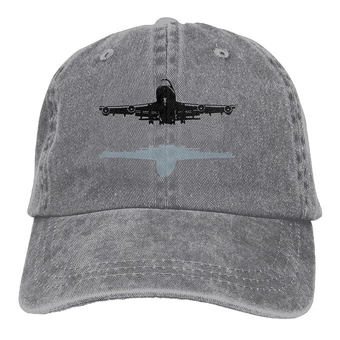 Arsmt Boeing-747 Denim Hat Adjustable Women Low Baseball Hats at ... c5aa76c8c36