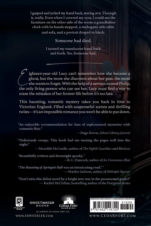 Designer deals club for hancock - Amazon Com The Haunting Of Springett Hall 9781462116720 E B Wheeler Books