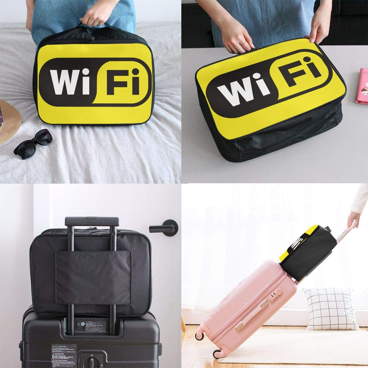 Travel Luggage Duffle Bag Lightweight Portable Handbag Wifi Large Capacity Waterproof Foldable Storage Tote
