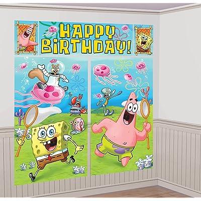 amscan Spongebob Scene Setter Wall Decorating Set (Each): Toys & Games
