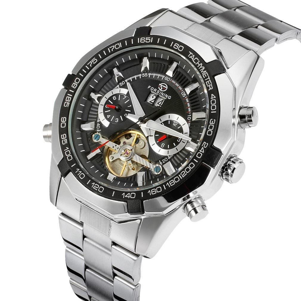 Forsining - Reloj de pulsera de lujo para hombre, automático, con calendario, mecanismo con tourbillon, FSG340M4T1: Amazon.es: Relojes