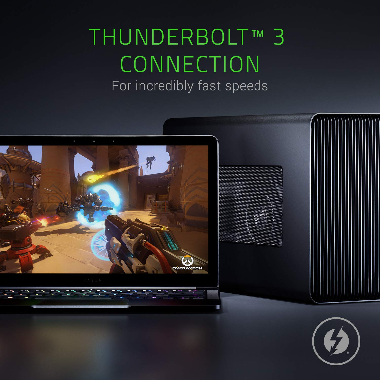 Razer Core X Aluminum External GPU Enclosure (eGPU): Compatible w/Windows &  Mac Thunderbolt 3 Laptops - NVIDIA/AMD PCIe Support - 650W PSU