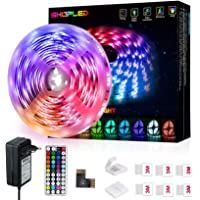 Tiras LED 5M, SHOPLED LED Tira cambia de color con Control Remoto de 44 Botones, Multicolor RGB 5050 Luces LED…