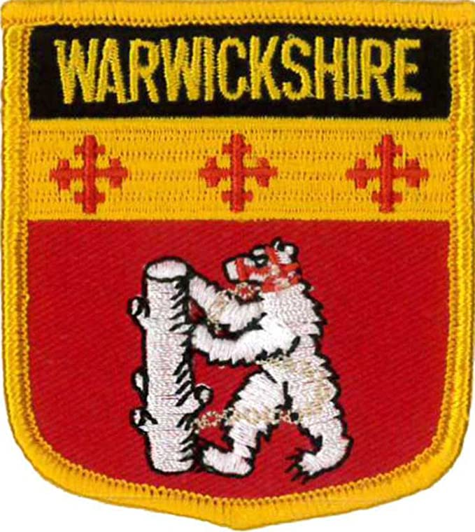 Warwickshire County Flag Embroidered Patch
