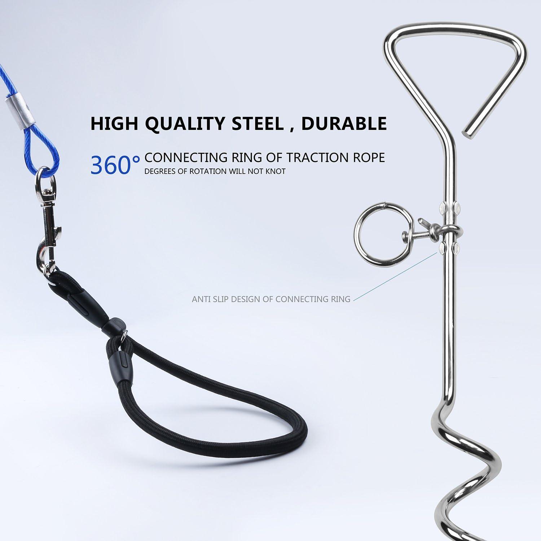 Cable y estaca para perros de 3 m de alambre de acero inoxidable ...