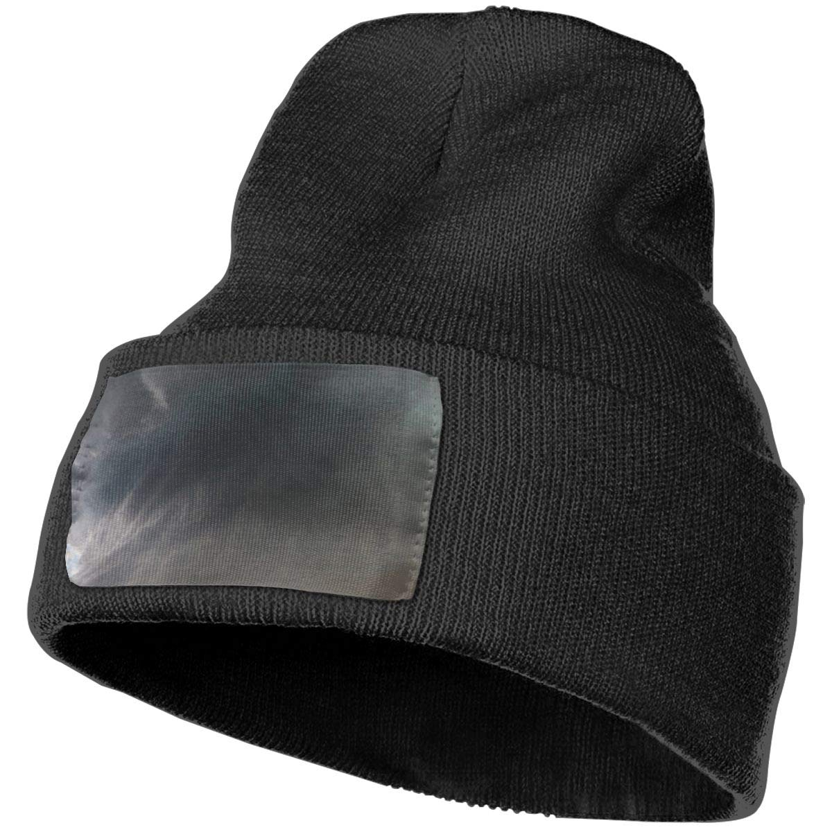 Sheery Tornado Casual Knit Cap for Men Women 100/% Acrylic Acid Skull Cap Woolen Hat
