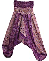 Elephant Batik Indian Alibaba Ethnic Boho Jumpsuit Romper Patchwork Harem Pants