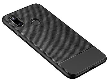 ZSCHAO Funda Xiaomi Mi 8 Fibra de Carbono + Cristal Templado, Carcasa Exquisito Slim Fit Suave TPU Silicona Funda antigolpes Anti-Huella Case Cover ...