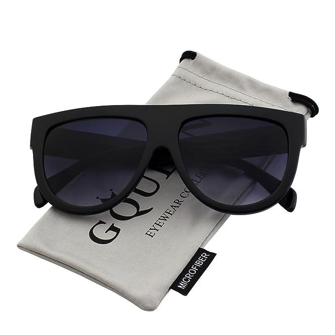 GQUEEN La mujer Plaza de enormes dimensiones gafas de sol Vintage Retro tonos MOS9