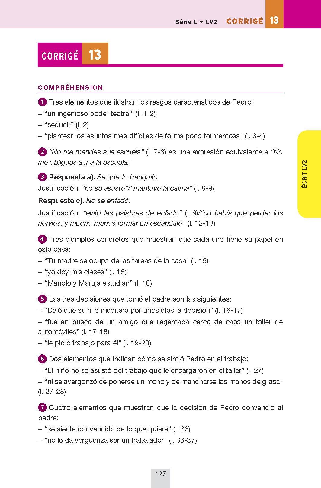 Annales Annabac 2013 Espagnol Tle LV1 et LV2: Sujets et corrigés du bac - Terminale toutes séries: 9782218963315: Amazon.com: Books